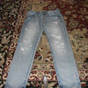 American Eagle Distressed Slim Straight Jeans